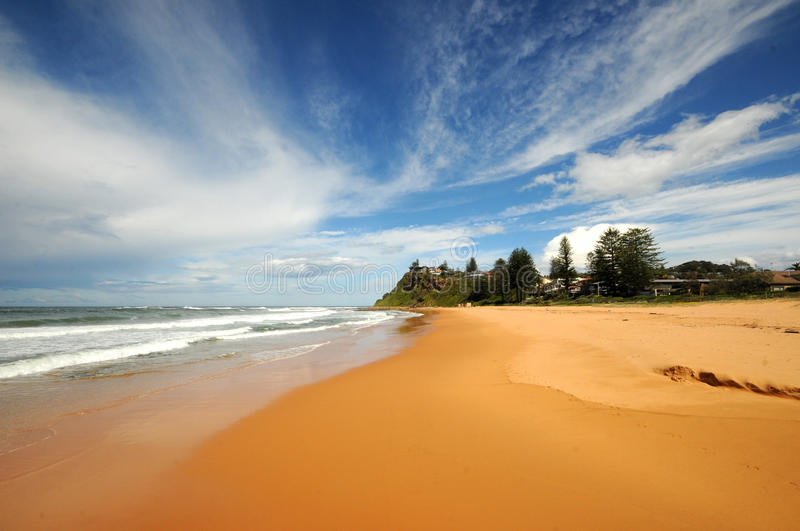 Newport Beach Sydney. Clean sands or Newport Beach on Sydney's Northern Beaches royalty free stock photo