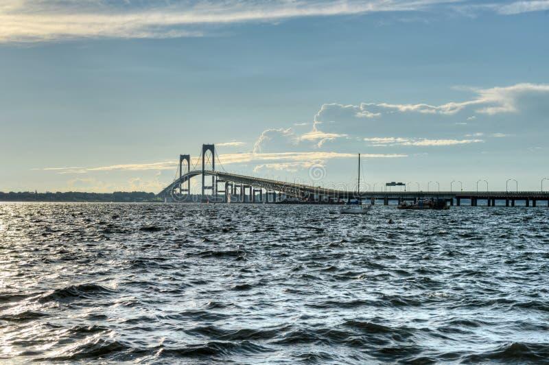 Newport Bridge - Rhode Island. Newport Bridge from near Jamestown, Rhode Island, USA royalty free stock image