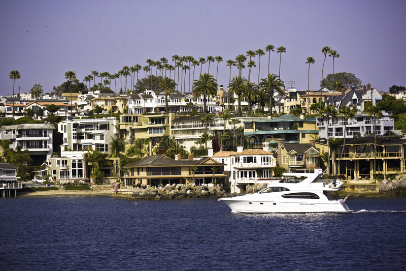 Newport Harbor Paradise stock photos
