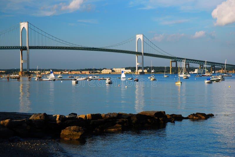 Newport Pell Bridge imagem de stock royalty free