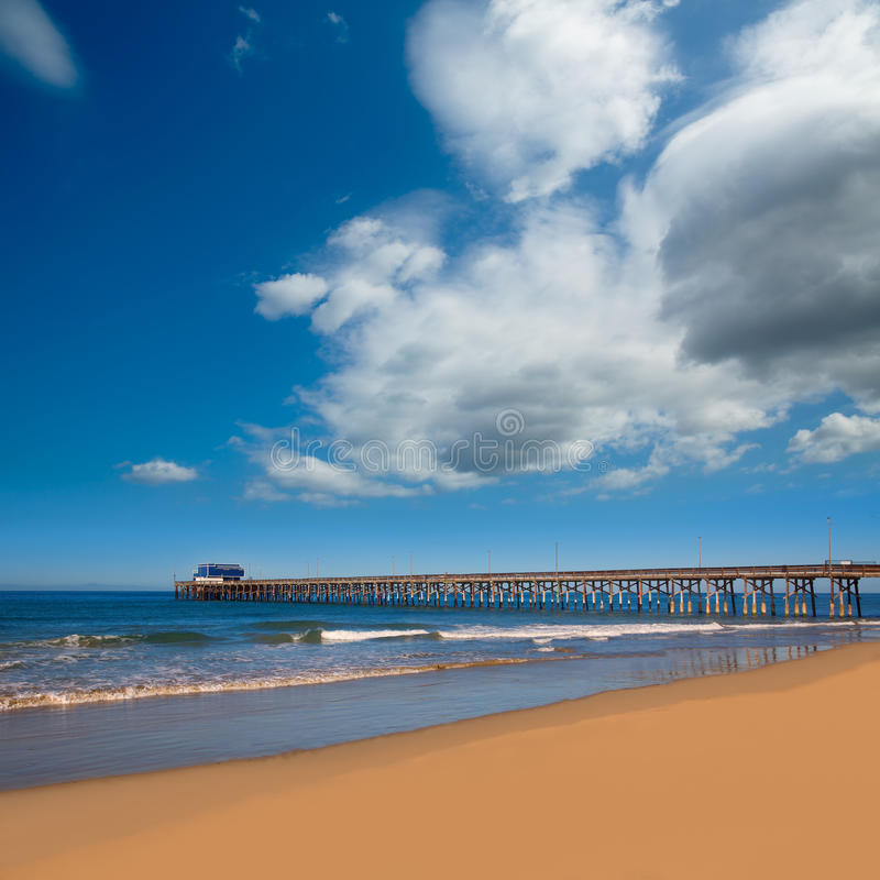 Newport pier beach in California USA stock photography