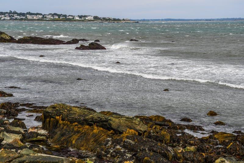 Newport Rhode - ö på horisonten royaltyfri bild