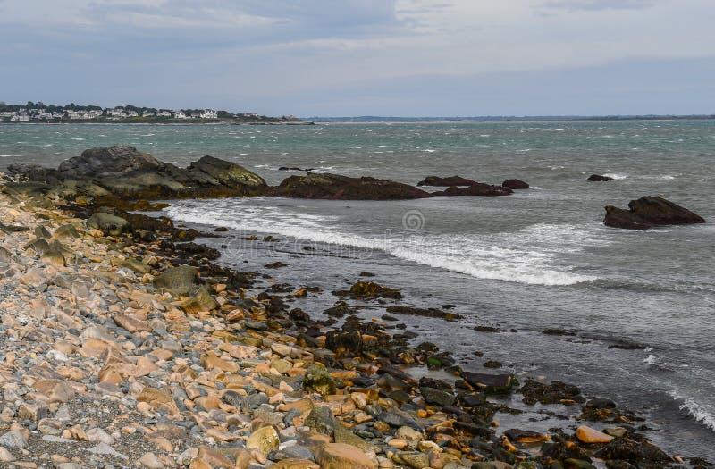 Newport, Rhode - ilha na distância foto de stock royalty free