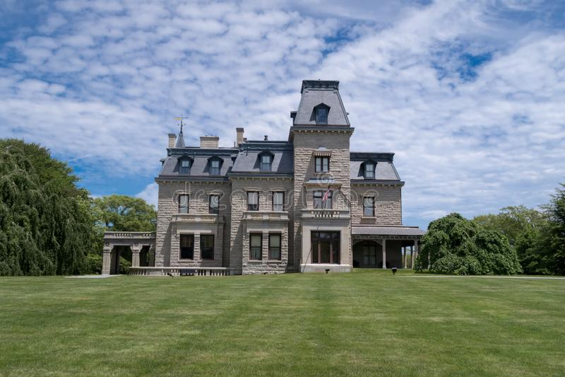 Chateau-sur-mer is one of America`s greatest Victorian houses, situated in Newport, RI royalty free stock photography
