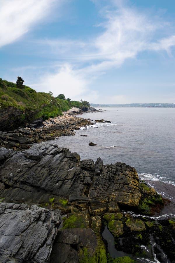 Newport Rhode - litoral do console imagem de stock