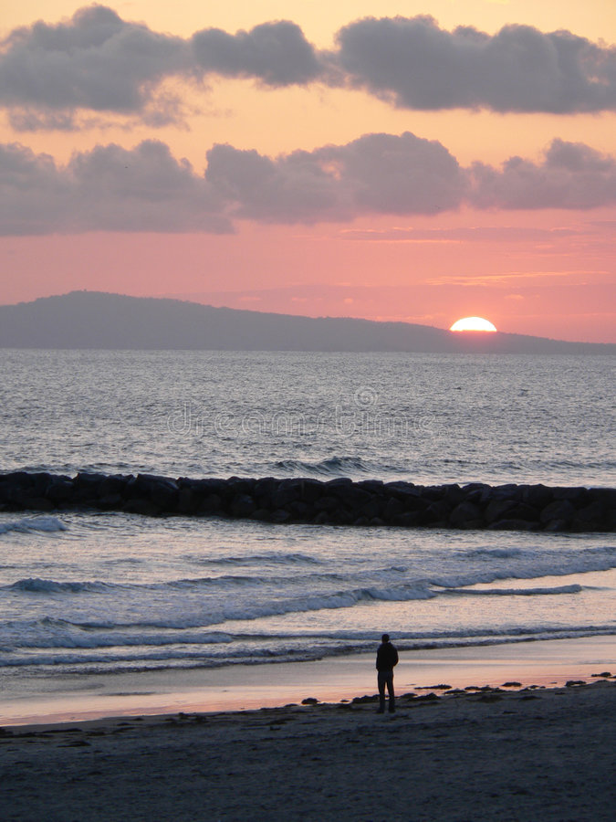 Newport-Sonnenuntergang 1 lizenzfreies stockfoto