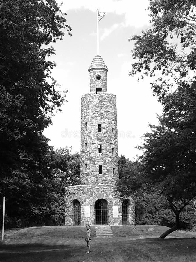 Newport tower stock image