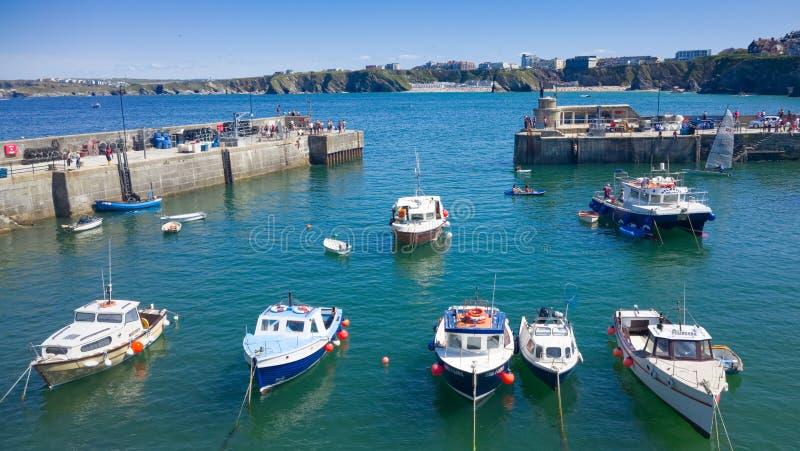 Newquay-Hafen in Cornwall, England stockbilder