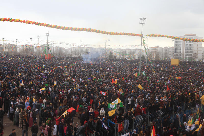 Newroz à Diyarbakir, Turquie images libres de droits