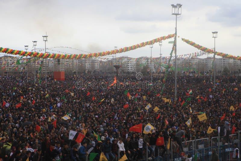 Newroz à Diyarbakir, Turquie photo stock