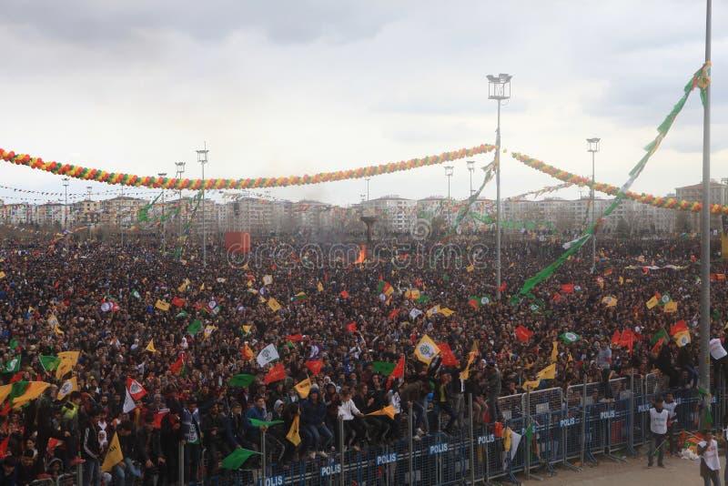 Newroz à Diyarbakir, Turquie photographie stock