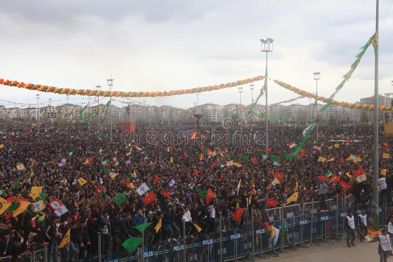 Newroz in Diyarbakir, die Türkei lizenzfreies stockfoto