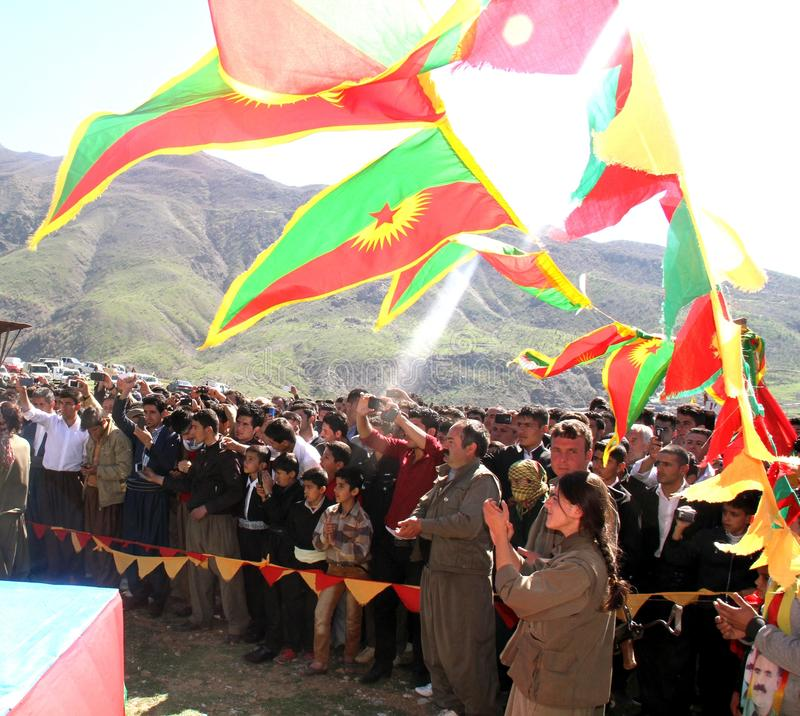 Newroz-Partei stockbild