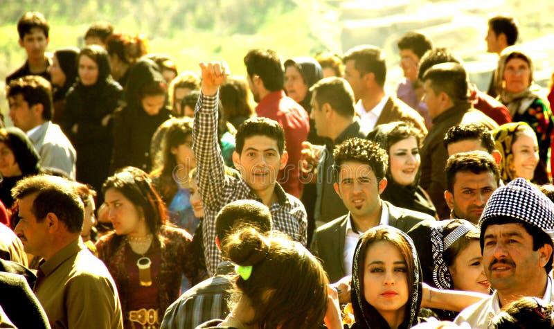 Newroz parti arkivfoton