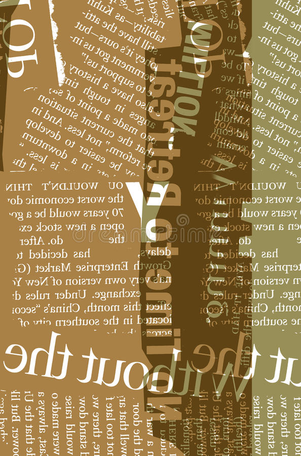 News. Close up of newspaper with headlines stock illustration