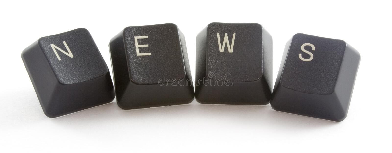 News. Formed by keys of a computer keyboard