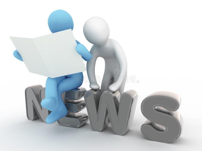 News. Man reads news in newspaper