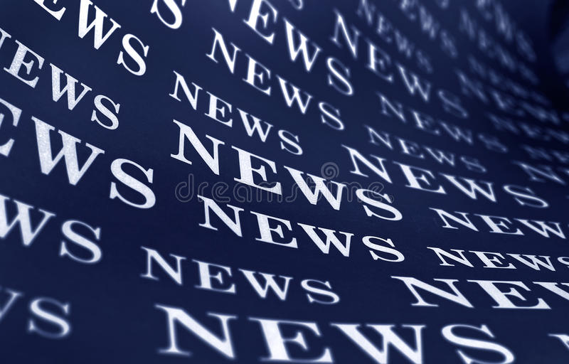News. Top news on a newspaper page