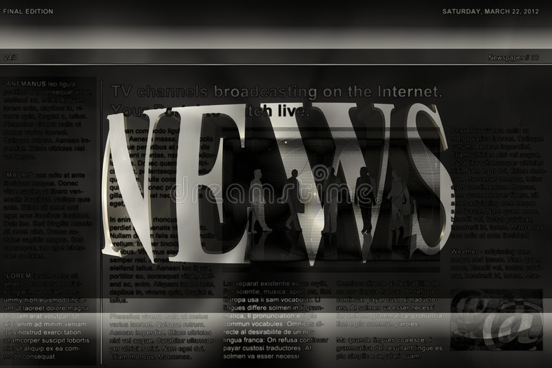 Download News Background stock illustration. Illustration of media - 9309688