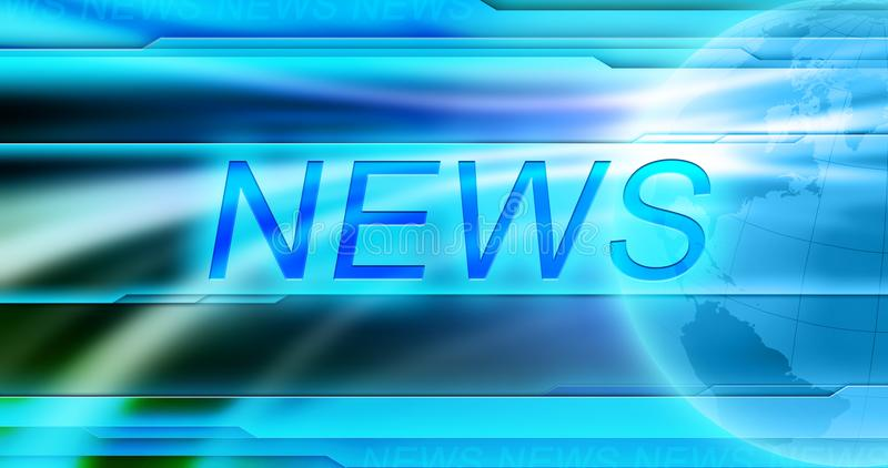 News background wallpaper. Title NEWS at the center of banner at blue background. stock photography