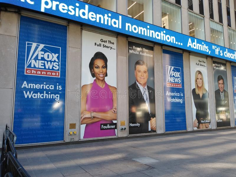 News Broadcasting, Fox News, America is Watching, NYC, NY, USA stock photography