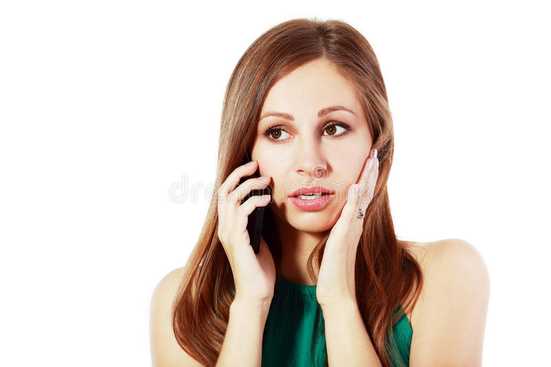News at the cellphone royalty free stock image