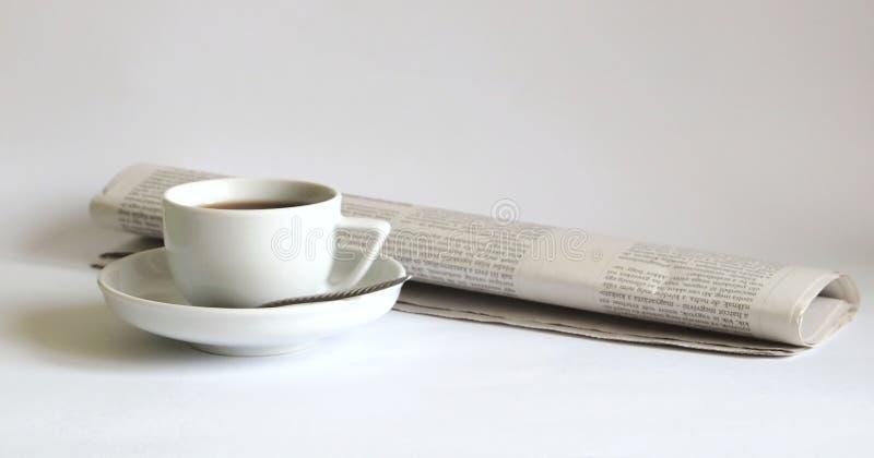 News and coffee stock photo