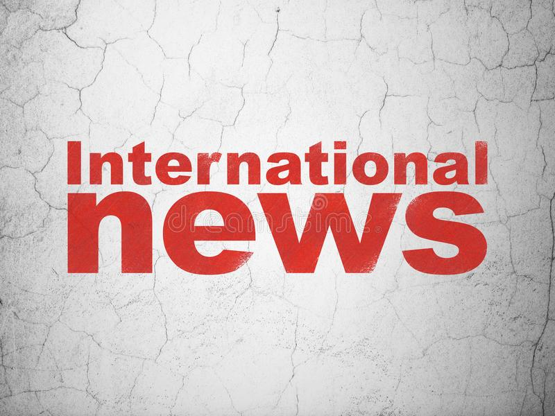 News concept: International News on wall background royalty free illustration