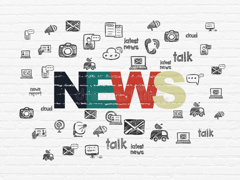 News concept: News on wall background stock illustration