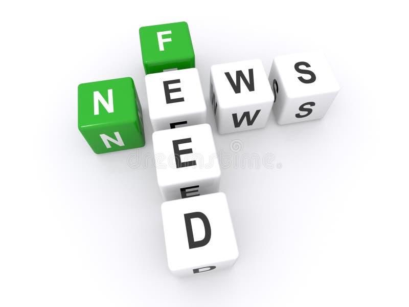 News feed illustration stock