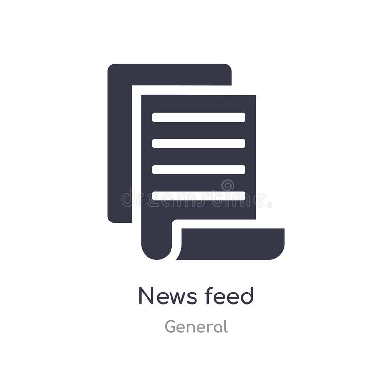 news feed icon. isolated news feed icon vector illustration from general collection. editable sing symbol can be use for web site royalty free illustration
