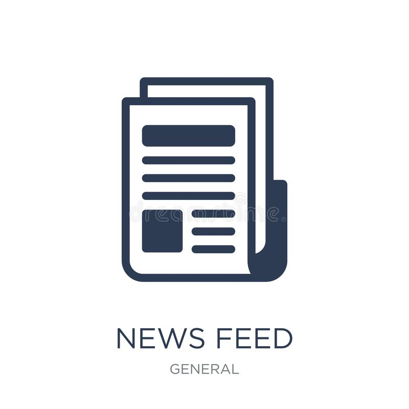 News feed icon. Trendy flat vector news feed icon on white background from General collection. Vector illustration can be use for web and mobile, eps10 vector illustration
