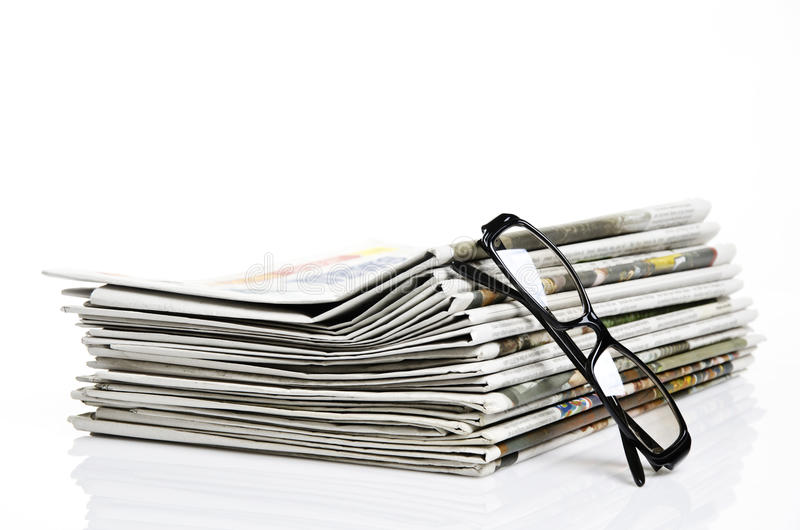Download News and glasses stock image. Image of background, media - 24869487