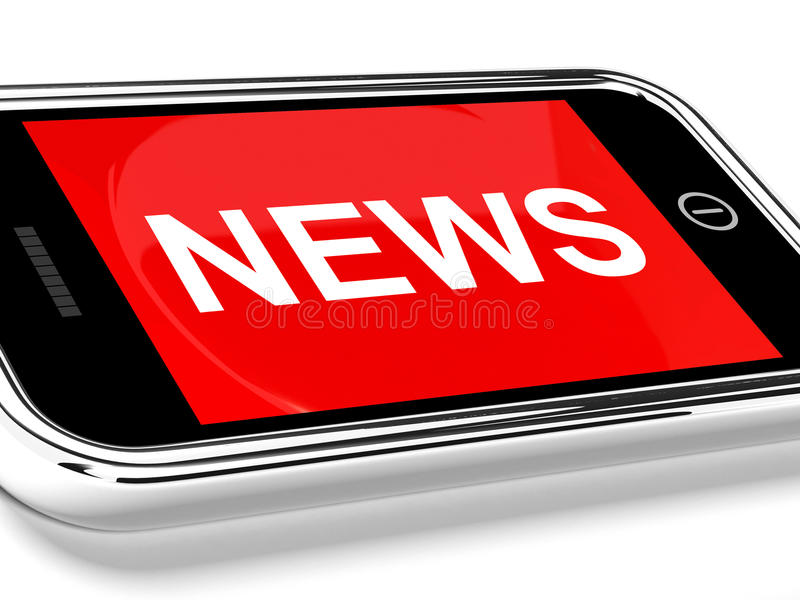 Download News Headline On Mobile Phone Stock Illustration - Image: 25846509