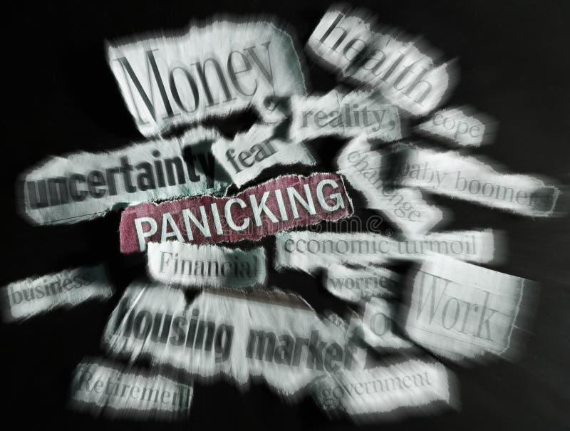 News headlines. Torn paper economic news headlines - economy concept stock image
