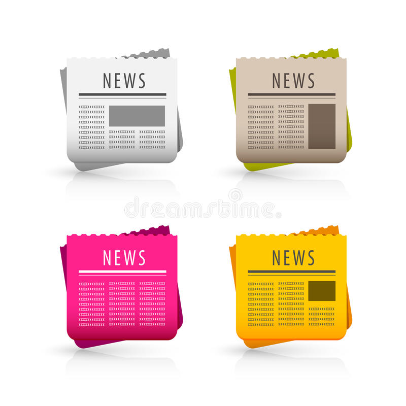 News icons royalty free illustration