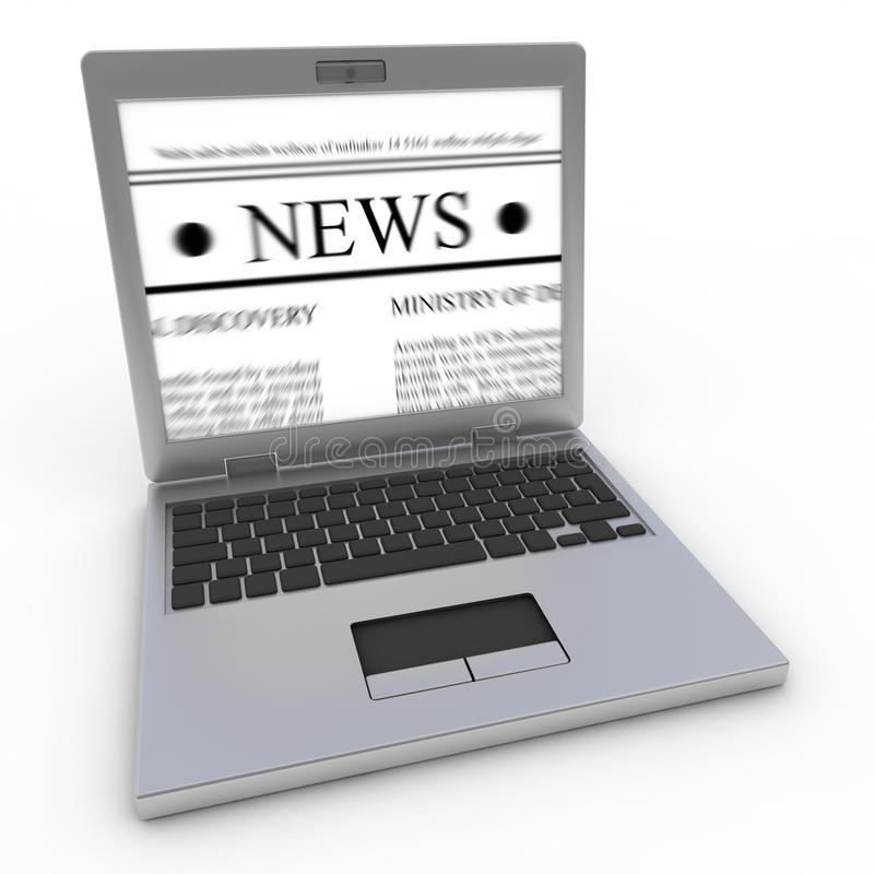 News on laptop royalty free illustration