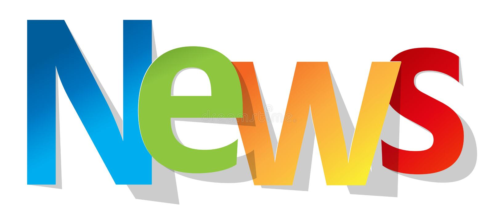 News letters banner multicolor on a white background. stock illustration