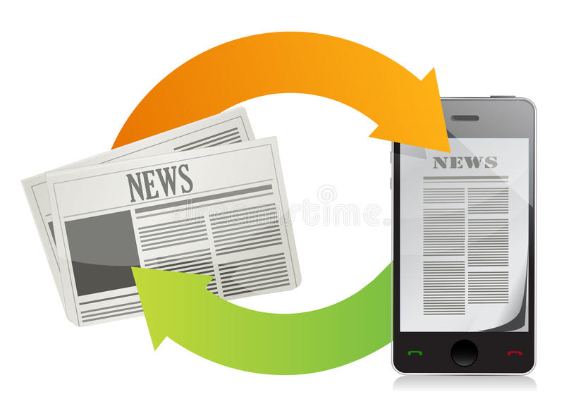 Download News media concepts stock illustration. Image of business - 29197070