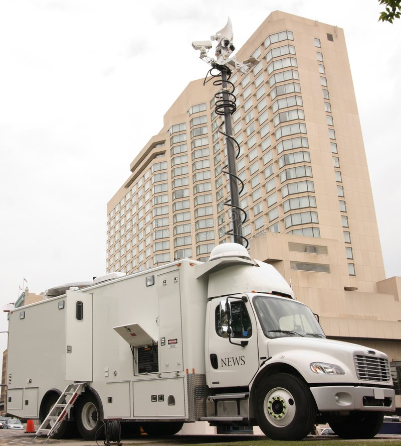 Download News Media Truck stock photo. Image of outdoors, power - 2526918