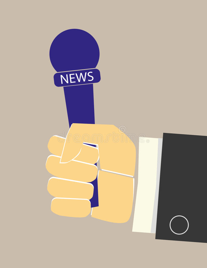 News Microphone in Hand vector illustration