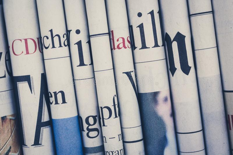 News, newspaper news, newspaper news, newspaper royalty free stock photo