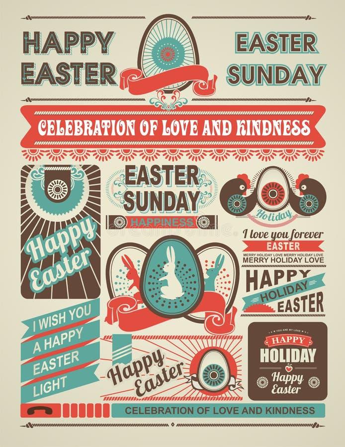 News newspaper festive Easter vector illustration