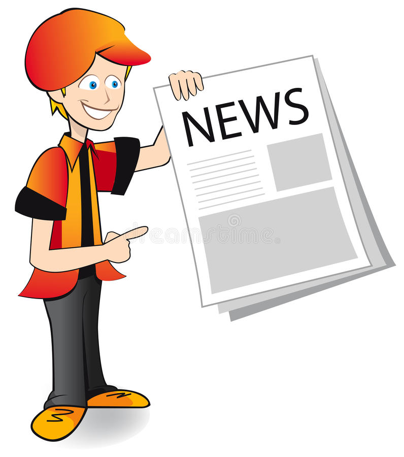 News paper boy royalty free stock photography