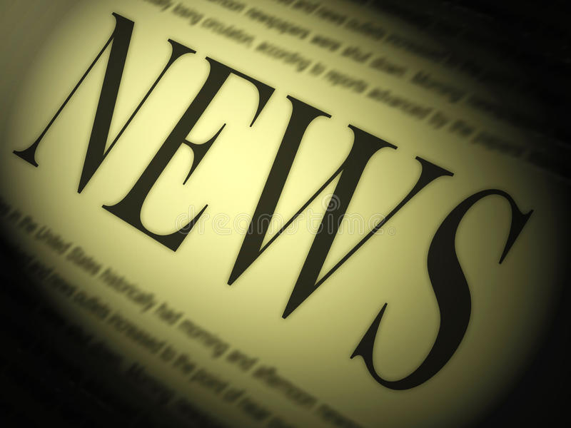News Paper Shows Media Journalism Newspapers And Headlines. News Paper Showing Media Journalism Newspapers And Headlines stock illustration