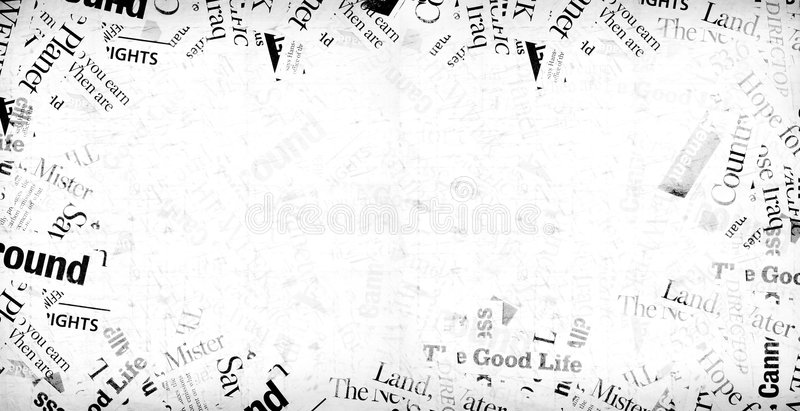 News paper text royalty free stock photos