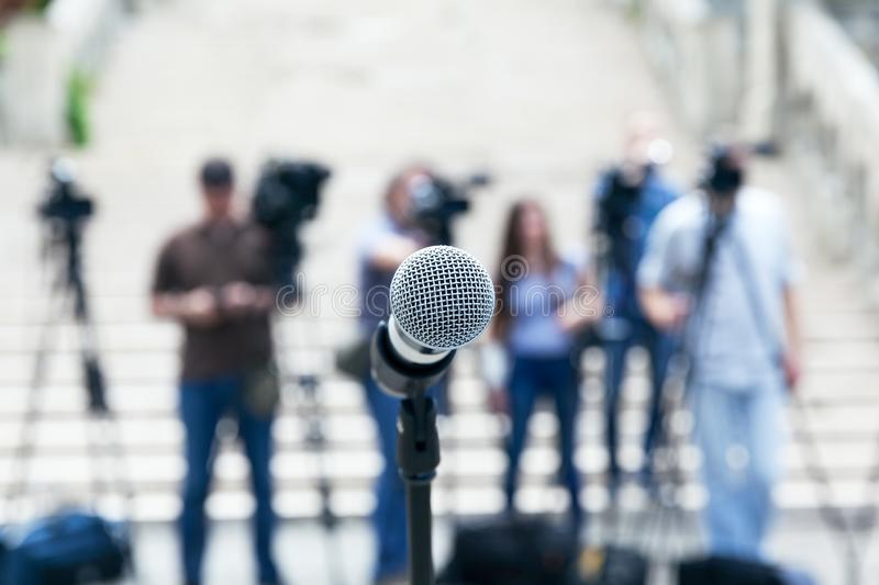 News or press conference royalty free stock image