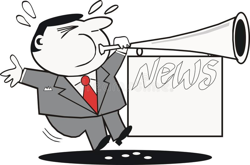 News Publicity Cartoon Royalty Free Stock Photography