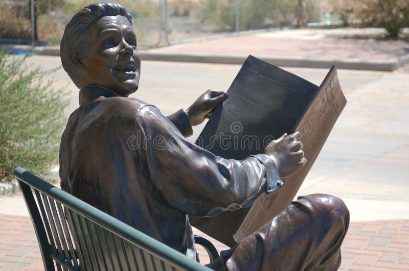 Download News reader stock image. Image of newspaper, tucson, sculpture - 3917529