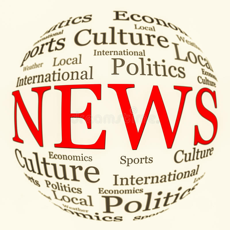 Download News Related Words Arrangement In Spherical Form Stock Image - Image: 30615839